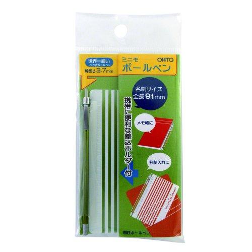 Ohto Minimo Ball Point Pen In Card Case - Green