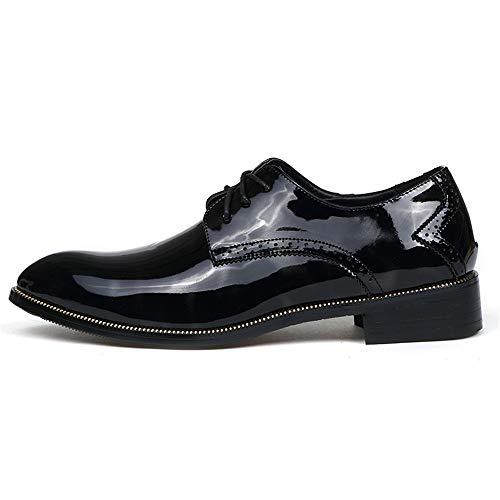 stile da traspirante Sunny leggera con Casual britannico all'abrasione vernice in Resistente scarpe uomo formali Nero Oxford amp;Baby Business COOqB