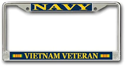 disabled vietnam veteran chrome license plate frame made in usa