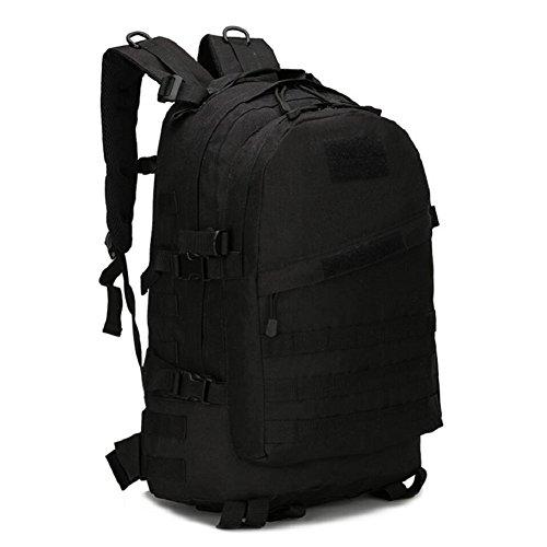 ZX&Q Upgraded 3D alpinismo viaje de camping al aire libre cómodo transpirable resistente al desgaste resistente al desgarro de gran capacidad multi-color opcional 30L doble hombro mochila,black,30L Black