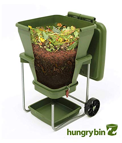 Worm Farm Composting Bin - Continuous Flow Through Vermi Composter for Worm Castings, Worm Tea Maker, Indoor/Outdoor, 20 gallons