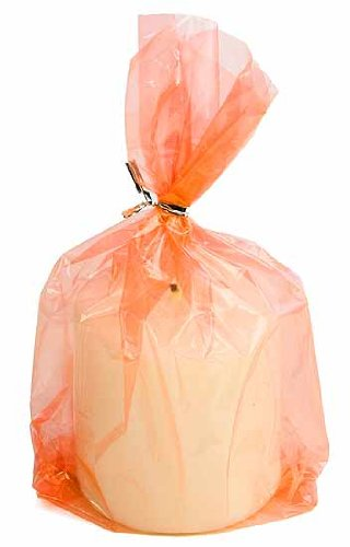 2 Packages of 48-Orange See Thru Plastic Cello Bags-96 Total bags
