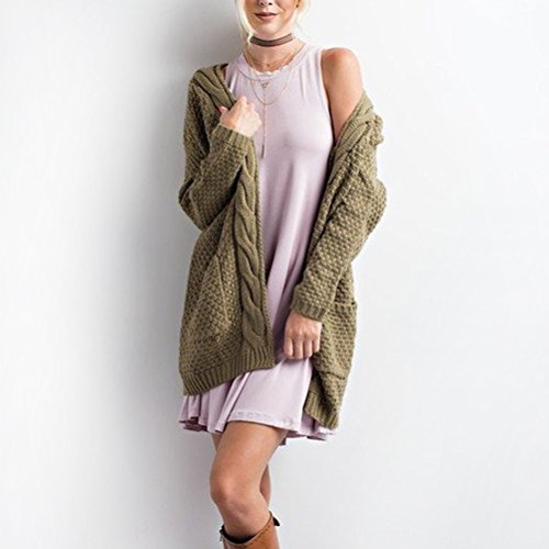 S Mujer Casual Tamaño Retro color Suéter Larga Rebeca Como Punto Manga Jersey Muestra Elegante Se Yingsssq De Muestra Largo pTgFE