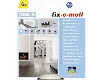 fix-o-moll E-Profildichtung 6 m 4 x 9 mm selbstklebend braun, 3565240