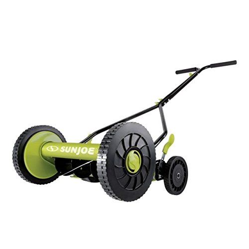 Sun Joe MJ503M 14-Inch Quad Wheel 9-Position Manual Reel Mower by Sun Joe