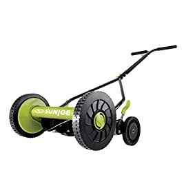 Sun Joe MJ503M 14-Inch Quad Wheel 9-Position Manual Reel Mower 9 ✅ REEL MOWER: Totally nature-friendly push reel mower - no electricity, no battery, no problem! ✅ ADJUSTABLE: 9-position height adjustment tailors grass cutting height from 1.1 to 2.9 inches ✅ RAZOREEL: 5 durable steel blades swiftly slice through grass for precise cutting