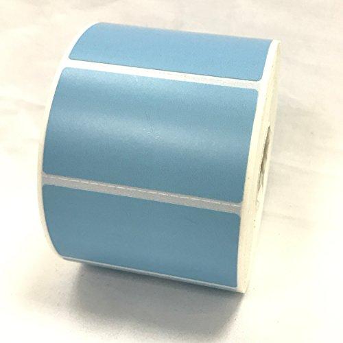 4 Rolls 2.25 x 1.25 Direct Thermal Labels LIGHT BLUE 1000 Labels Per Roll Zebra / Eltron Printer Compatible 1