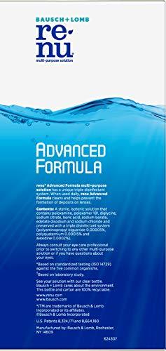 Renu Advanced Formula Multi-Purpose Solution, 2×16 Ounce Plus 2oz Travel Size