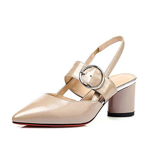 Europa Y El Fuerte Verano Grueso Tacones Zapatos,Correa Hebilla Sandalias De Moda En Baotou A