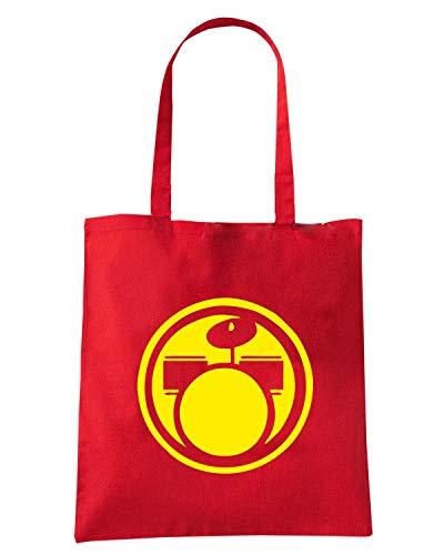 Shopper Rossa FUN1274 Speed DRUMS CIRCULAR Borsa Shirt w7R0Bqzg
