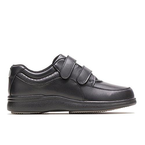 Hush Puppies Women's Power Walker II Black Leather Sneaker 8 WW (EE)