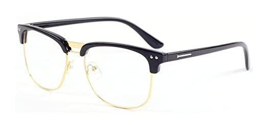 Outray Vintage Retro Half Frame Plain Clear Lens Glasses 2134c1 ...