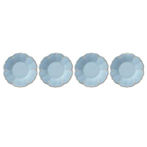 Lenox French Perle Melamine Blue Accent/Salad Plates, (Set of 4)