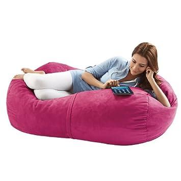 Super Jaxx Sofa Saxx 4 Foot Bean Bag Lounger Pink Pabps2019 Chair Design Images Pabps2019Com