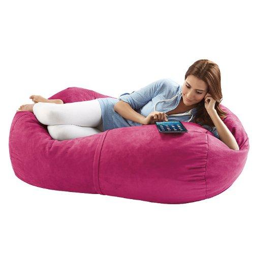 - Jaxx Bean Bags Sofa Saxx Lounger, 4-Feet, Fuchsia Microsuede