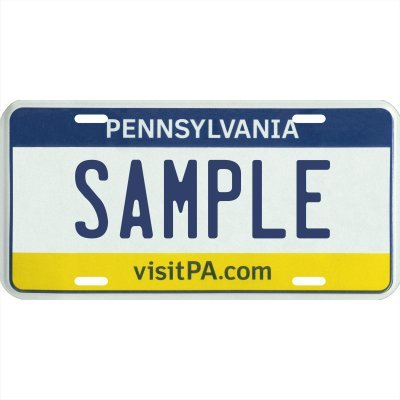 Your Name Your State Custom Metal License Plate   Choose From All 50 States  Pennsylvania  6  X 12  Standard Thickness   030