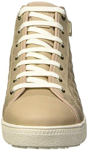 Femme Amaranth Beige Sneakers c6738 Geox A Abx B Hautes n7x4BB1U6