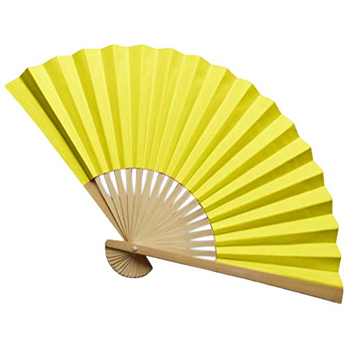 (JJLIKER Vintage Bamboo Folding Hand Fan Paper + Bamboo Hand Fan with Traditional Chinese Arts Handicraft )