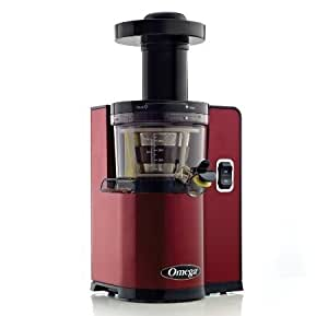 Omega VERT Slow Juicer VSJ843QR, Square Version, Red by Omega
