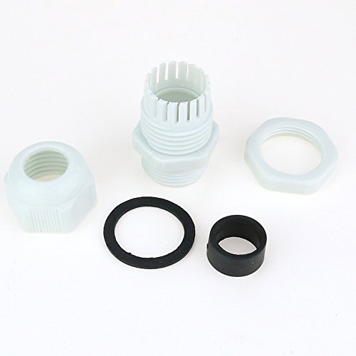Hilitchi 60 Piece Nylon Plastic Waterproof Adjustable 3.5-13mm Cable Glands Joints Cable Gland - PG7, PG9, PG11, PG13.5, PG16 (Gray-60pcs) by Hilitchi (Image #2)
