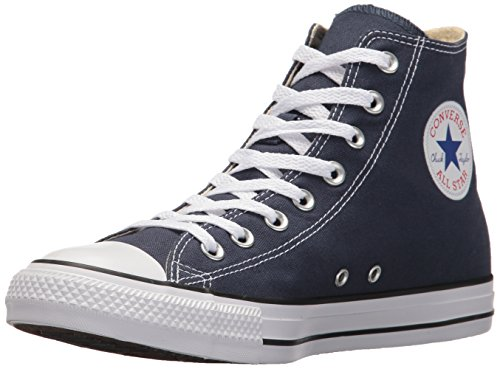Converse Chuck Taylor All Star Canvas High Top Sneaker, Navy, 10 US Men/12 US Women