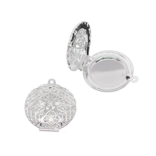 Housweety Silver Plated Pendants 32x27mm