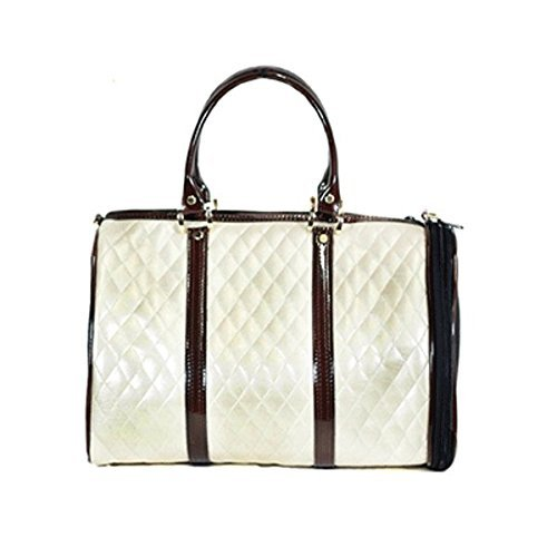 Cheap Petote JL Duffel Pet Carrier, Mini, Ivory Quilted