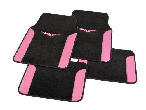 Universal Carpet Floor Mat - 4pc, Pink ACM206PK ACM206PK