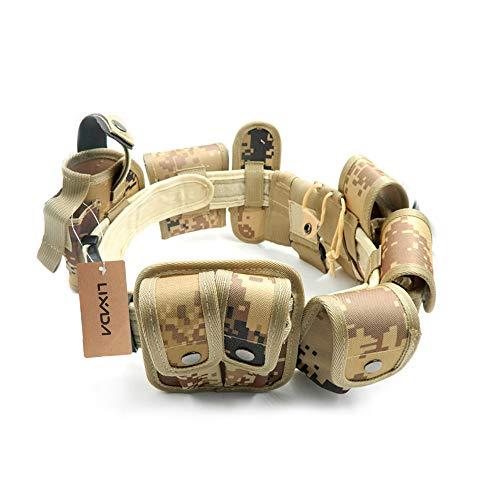 Lixada Cinturón Táctico de Ajustable Nylon Militar Utilidad Correa Kit Guardia de la Policía de Seguridad Formación 13