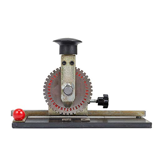 VEVOR Sheet Embosser Manual Deboss Metal Embosser Machine Dog Tag Specific Model Date Serial Number Stamping Embossing Marking Machine with 4MM Print Wheel by VEVOR (Image #1)