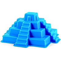 Hape Beach Toy Mayan Pyramid Sand Shaper Mold Toys, Blue