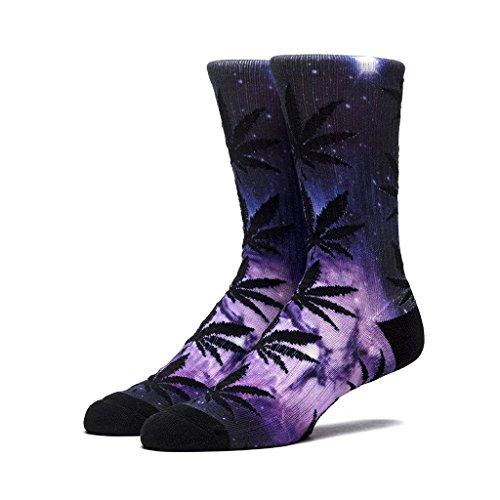 HUF Men's Galaxy Plantlife Crew Sock, Purple, One - Newbury Shops Street High