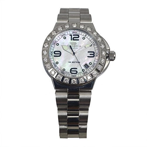 ENIGMA By Gianni Bulgari Unisex Caterpillar Diamond 38mm Steel Bracelet Quartz Watch CHD38.QS.S.24.23.MS