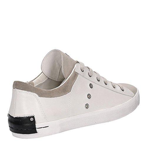Crime London Low sneaker in pelle bianca