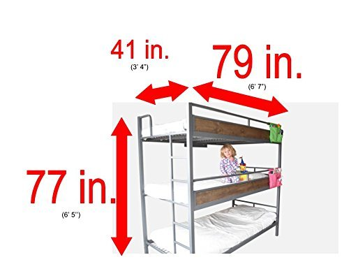 Triple Bunk Bed with Trundle (matresses NOT included)