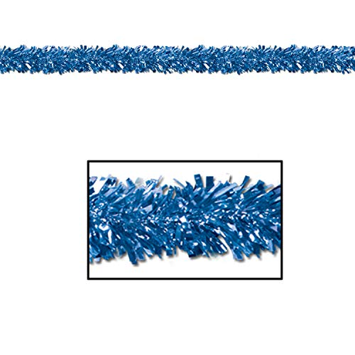 Metallic Garland Christmas Festooning Blue, Gleam N Fest Metallic Garland, Pack 12
