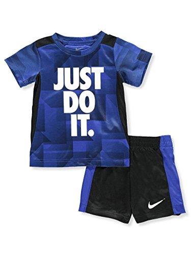 NIKE Children's Apparel Boys' Toddler Graphic T-Shirt and Shorts 2-Piece Set, Hyper Royal/Obsidian 4T by NIKE Children's Apparel (Image #3)
