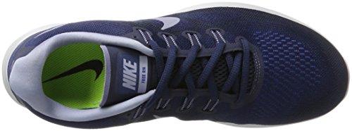 Nike Free Rn 2017 Binair Blauw / Donkere Hemel Blauw / Obsidiaan Heren Loopschoenen Rangschikken