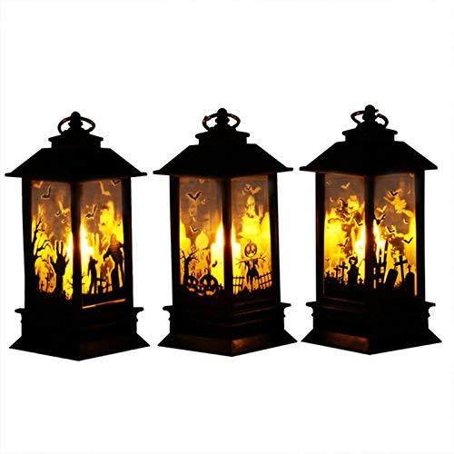 Holiday Lighting - Hanging Lantern Flame Lamp Decor Light Vintage Party Castle Halloween Pumpkin Night Home Room - Lighting Cord Light Through Extension Color Outlet Slip Projectors Christ (Projector Lift System)