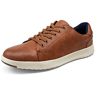 VOSTEY Men's Sneakers Fashion Casual Shoe Lightweight Mens Tennis Shoes(9,Brown)