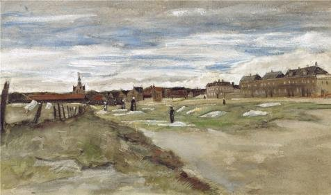 Perfect Effect Canvas ,the Cheap But High Quality Art Decorative Art Decorative Prints On Canvas Of Oil Painting 'Bleaching Ground At Scheveningen, 1882 By Vincent Van Gogh', 12x20 Inch / 30x52 Cm Is Best For Dining Room Decor And Home Decor And Gifts