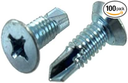 Box of 100 # 14 X 3 Zinc Plated Hex Head Drill /& Tap Screws
