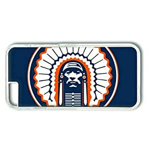 "iphone 5c Case,Illinois Fighting Illini on Blue Hard Shell Transparent Edges Case for iphone 5c("")"