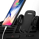 Mpow Upgraded Air Vent Car Phone Mount, 3-Level Adjustable Clamp with Universal Phone Holder Compatible iPhone Xs/XS MAX/XR/X 8/8 Plus/7, Galaxy Note9/8/S8/S8 Edge/S7 Smartphones Under 6 inch