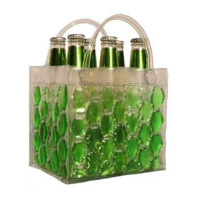 Chill It Bags Beer Cooler Bag Green--6 pack