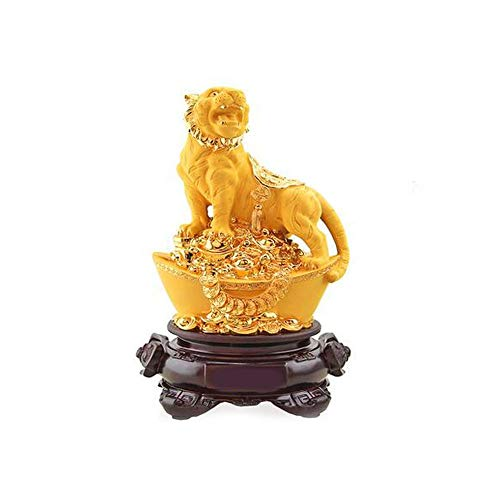XIONGHAIZI Desk Decoration Small Ornaments Creative Gold Tiger Home Furnishings Living Room Wine Cabinet TV Cabinet Decorations (Color : Gold, Size : 191530cm) (Tigers Tv Table)