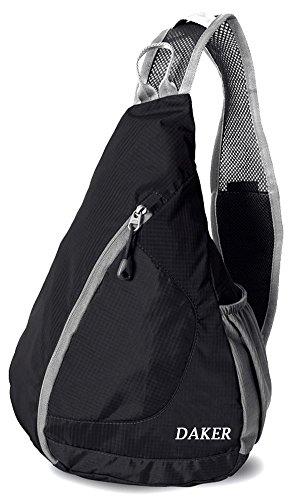 Daker Sling Bag Small Crossbody Backpack Shoulder Backpack Chest CrossBody  Bag Cover Pack Rucksack for Bicycle Sport Hiking Travel Camping Bookbag Men  Women ... 2e655f0500f42
