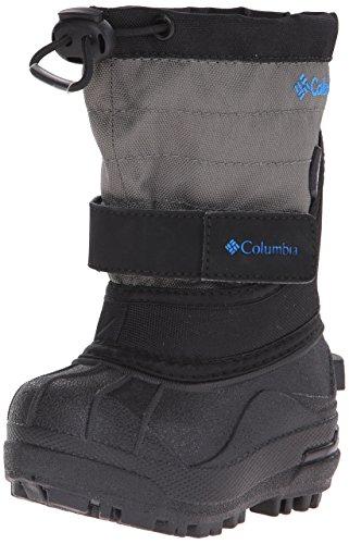 Columbia Powderbug Plus II Textile Schneestiefel Black/Hyper Blue