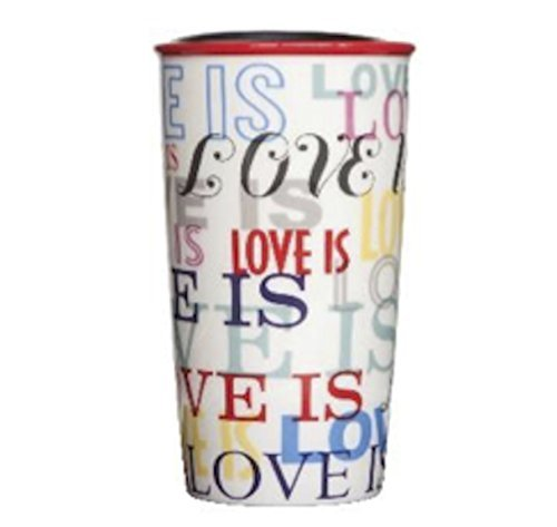 Starbucks ''Love Is'' Hot Drink Stoneware Tall Cup 12 oz