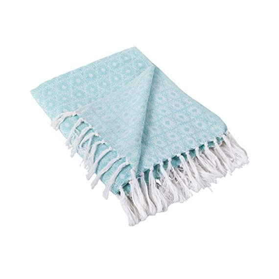 DII Rustic Farmhouse Cotton Blanket Throw with Fringe for Chair, Couch, Picnic, Camping, Beach, Everyday Use -  - blankets-throws, bedroom-sheets-comforters, bedroom - 41u5rEXrJ6L. SS570  -